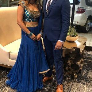 Royal and sexy three piece lengha choli Indian pak